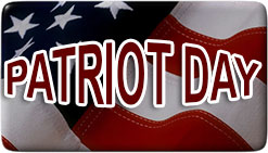 Patriot Day on an American Flag image