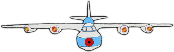 4 engine jet clipart image