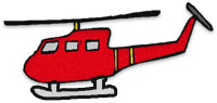 helicopter red and yellow clipart