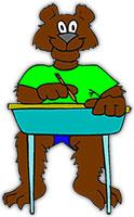 bear in classroom