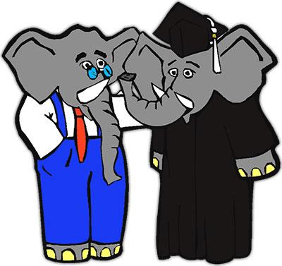 elephant graduating