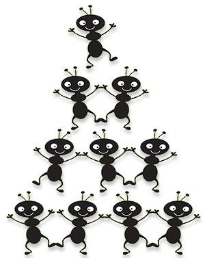 10 happy ants