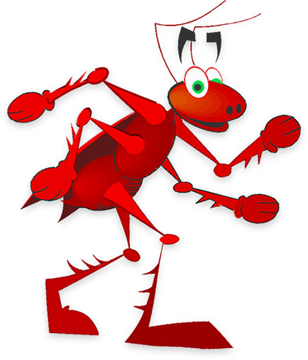 cool ant walking