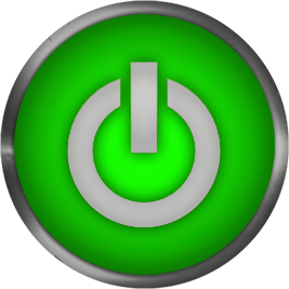 power button green
