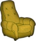 stuffed chair twill
