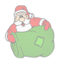 Santa with his toy sack