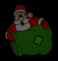 Santa delivering presents