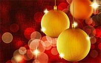 Christmas lights, stars and ornaments