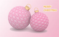 Merry Christmas with ornaments