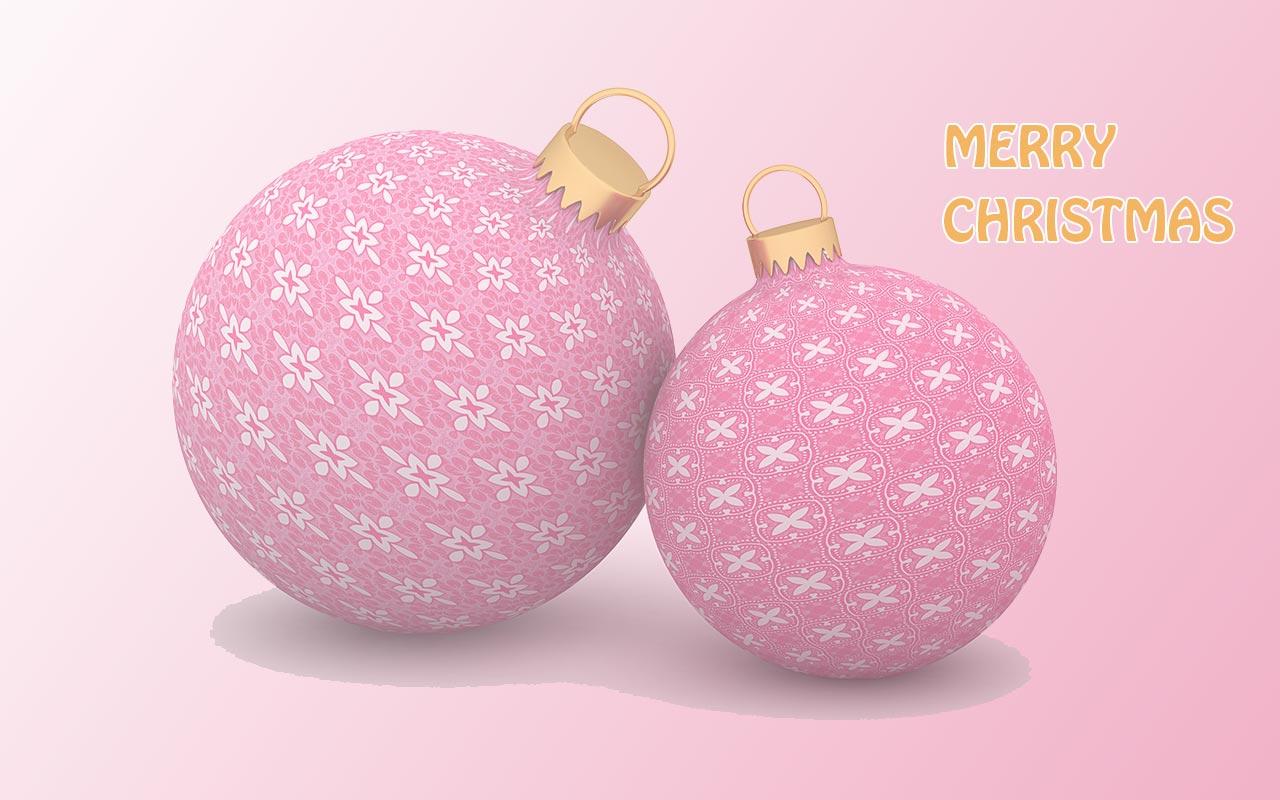 Neon Christmas Ornaments