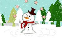 snowman winter scene