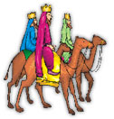 three wise men riding