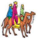 three wise men riding