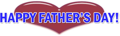 happy father's day with heart
