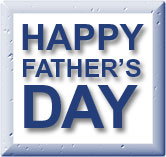 happy father's day blue on white word art