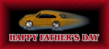happy fathers day with a Porsche