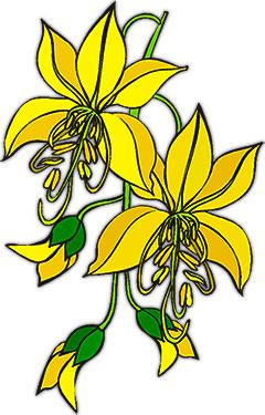 Black And White Free Christian Clip Art Flower Clipart -...