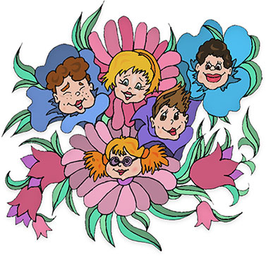 Image Led Draw A Cartoon Hibiscus Flower Step 1