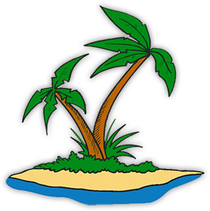 Palm Trees on an island