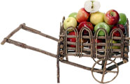 apple cart full of apples