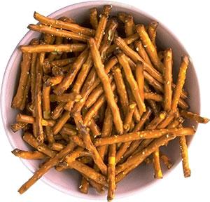 bowl of pretzels