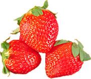 3 Florida strawberries