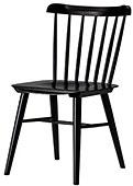 wood chair very dark wood