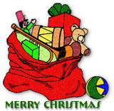 Merry Christmas and sack of presents