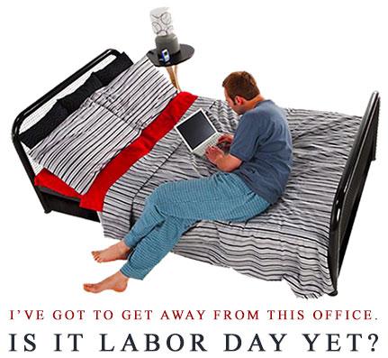 man working in his bedroom