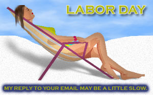 a the beach on Labor Day
