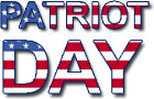 """Patriot Day"" in red white and blue"