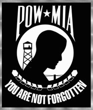 POW/MIA - You Are Not Forgotten with silver frame