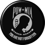 POW-MIA round button
