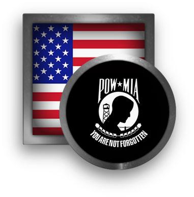 American Flag and POW-MIA Flag