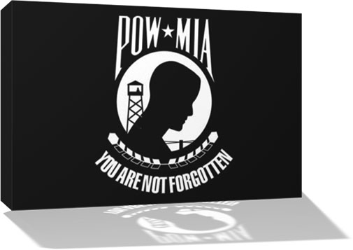POW-MIA Flag 3D wall