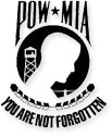 pow-mia flag on white