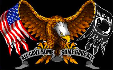 Some Gave All - eagle and flag