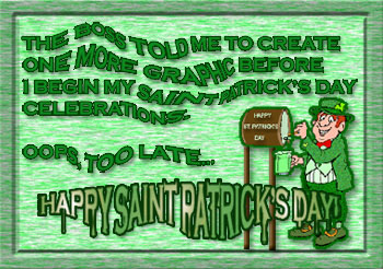 before I begin my saint patrick's day celebrations graphic
