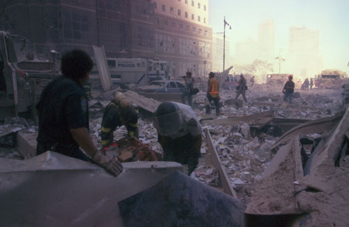 devastation near ground zero