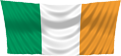 Irish Flag hanging from top down
