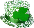 irish hat with shamrock