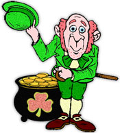 leprechaun tipping his hat to you