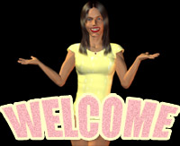 girl says welcome