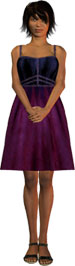 woman standing in purple dress and sandals jpg file